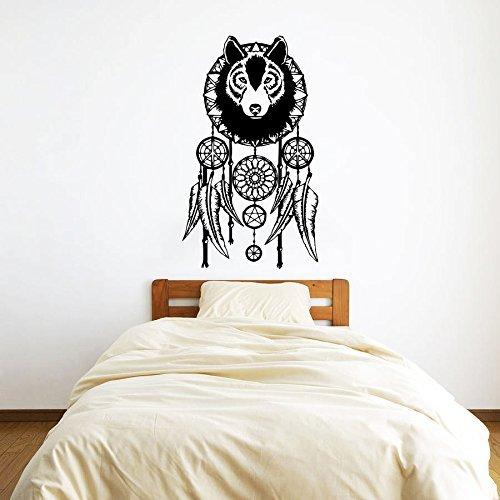 Etiquetas de la pared Atrapasueños únanse lobo plumas de adhesivo de vinilo decoración de la pared símbolo Murales para pared