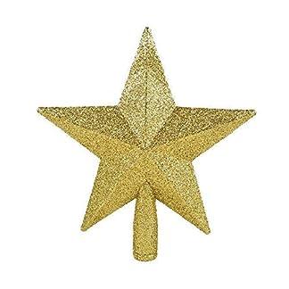 SODIAL(R) Estrella de Navidad Parte superior del arbol de Navidad Decoracion del arbol de Navidad oro