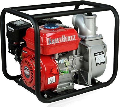 KRAFTHERTZ Benzin Wasserpumpe Motor Schmutzwasserpumpe Schlamm Pumpe Teichpumpe Gartenpumpe