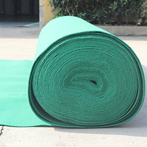 Ceremonia de apertura de la boda etapa alfombra de una sola vez ( Color : Verde , Tamaño : 1.0*10m-2mm )