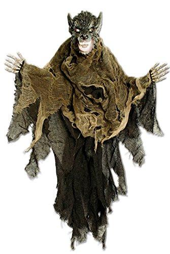 Halloween Deko Werwolf mit glühenden Augen animierte Figur 85x60cm (Halloween Animierte Figuren)