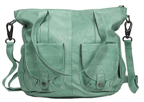 Greenburry Stainwashed Shopper Sac Fourre-tout cuir 35 cm green