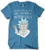 1164-Camiseta Rick and Morty Mathematically (Legendary P,) Azul Oceano M