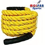 "MOLPAR Professional Use (1.5"" Thick /30- 50 Feet( Exercise Rope) Battle Rope; Battle Rope ; Rope"