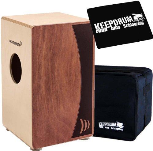Schlagwerk CP 555 Cajon Agile Dual Red + Keepdrum Gig Bag Tasche + Sitzpad