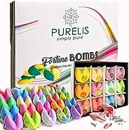 Bath Bombs Gift Set for Women -24 Fortune Telling Lush Bath Bombs & Shower Steamers! Best Bulk Party Favor