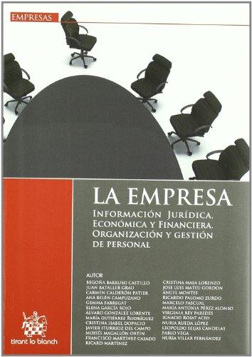 La Empresa Información Jurídica, Económica y Financiera Organización y gestión del personal