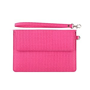 DooDa PU Leather Pouch Case Cover With Magnetic Closure & Video Viewing Stand For Lava E Tab