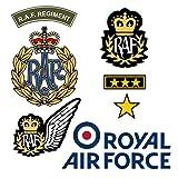 TENNER.LONDON Tenner. London Set von 7Royal Air Force auf Dem Bildschirm Druck Bügeln Stoff Applikation Maschinenwaschbar Transfer RAF