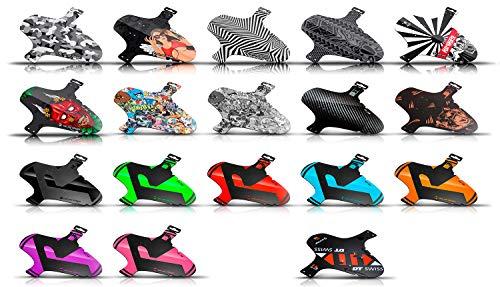 Riesel Design-1 Koloss Länger als Schlamm:PE-Pattern Girl-4 Kabelbinder+ 2 Sticker-Fahrradschutzblech für vorn-Spritzschutz-Einheitsgröße-Mountainbike-Mud guard-Mtb-26-29 Zoll