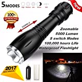OVERMAL G700 Taschenlampe 5000lm BRIGHT X800 Taktische LED Military ShadowHawk Design