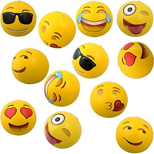 German Trendseller® - Emoji Aufblasbar NEU┃ Emoticons ┃ Wasserball ┃ Mitgebsel ┃ Kindergeburtstag ┃ - Beach Ball -