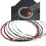 LBAFS Corde Colorate Per Chitarra Arcobaleno Accessorio Per Corde Acustiche Colore One Set 6pcs