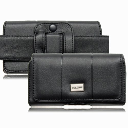 Premium-handy-holster (Premium Gürteltasche MAX für Apple Iphone X in Schwarz Handytasche Seitentasche Quertasche Ledertasche Trageclip Schutz Hülle Handy Tasche Holster Schutzhülle Schutz Gürtelschlaufe Schlaufe)
