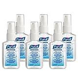 PURELL Advanced Hygienisches Händedesinfektionmittel – Händedesinfektionsgel in praktischer Größe für Unterwegs – (6 x 60ml Pumpflasche)