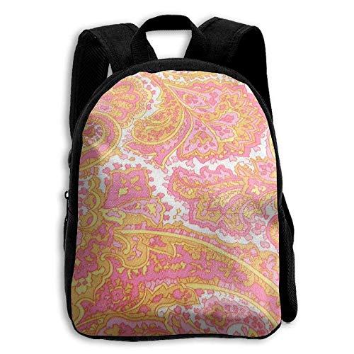 ADGBag Coral Pink Yellow Children's Backpack Kids School Bag with Adjustable Shoulders Ergonomic Back Pad Perfect for School Security Sporting Events Kinderrucksack Rucksack -