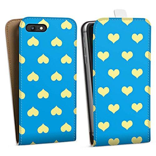 Apple iPhone X Silikon Hülle Case Schutzhülle Herzchen Blau Polka Downflip Tasche weiß
