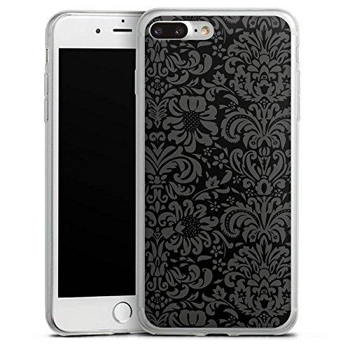 Apple iPhone 8 Slim Case Silikon Hülle Schutzhülle Ornamente Vintage Muster Silikon Slim Case transparent