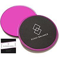 Bondi Balance Gliding Discs for Core Exercises Dual Sided Hot Pink Set of 2 with Sliders Workout Ebook