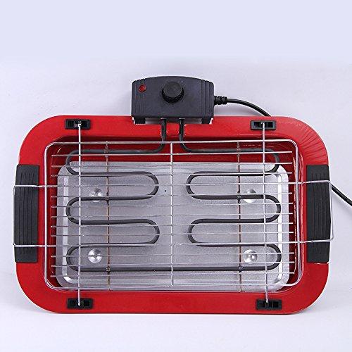 TTXIA@ The Bbq Stove Smoke-Free Non-Stick Electric Grill Electric Grill Oven Grill Portable Bbq Grill Electric Grill Home Adjustable Temperature Electric Grill Oven (L * W * High):48*35*8 (Cm)