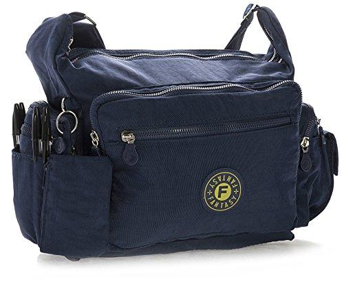 Big Handbag Shop , Damen Umhängetasche One Marineblau
