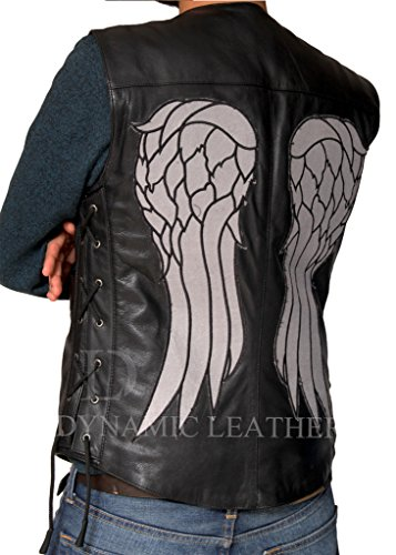 The Walking dead-daryl Dixon Ali d' angelo in finta pelle Gilet Giacca Black Large