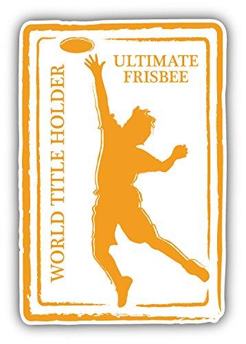 Ultimate Frisbee Sport Retro Passport Stamp Auto-Dekor-Vinylaufkleber 8 X 12 cm