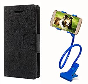 Aart Fancy Diary Card Wallet Flip Case Back Cover For Motorola Moto G -(Black) + 360 Rotating Bed Tablet Moblie Phone Holder Universal Car Holder Stand Lazy Bed Desktop for by Aart store.