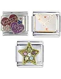 Superlink You Me Infinity Heart Engraved Charm with Rose Plate Finish - Fits nomination Classic