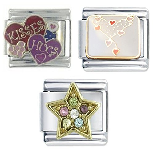 3-italian-charm-bundle-heart-of-hearts-hugs-and-kisses-multi-gem-star-fits-nomination-classic