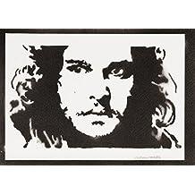 Jon Nieve Juego De Tronos (Game Of Thrones) Hecho A Mano - Handmade Street Art Poster