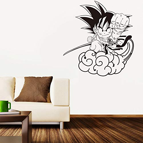guijiumai Neue Cartoon Dragon Ball Sun Wukong Salto Wolke Vinyl Wandtattoo Wohnkultur Kinderzimmer Tapete Entfernbare Wandaufkleber schwarz 57 x 61 cm -