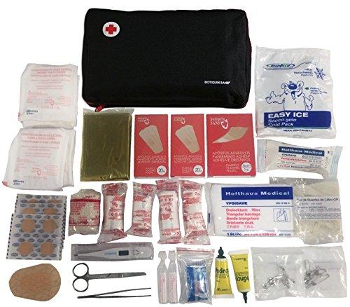 Erste-Hilfe-Set PRIME mit 120 artikel (digitalthermometer, antiseptische Lösung, physiologischen serums, sofort-kühlakku, rettungsdecke,...)