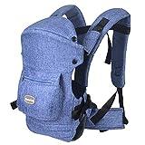 HarnnHalo - Porte-bébés ventraux & dorsaux, Baby carrier Multifonctionnel avec 3 Positions pour enfant(3-20 mois) 007 Bleu