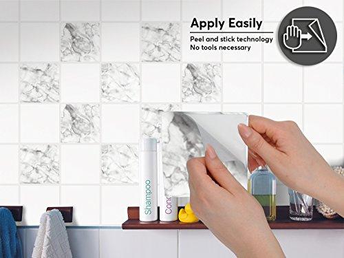 Piastrelle adesive pvc per cucina moderni   Design auto-adesivi ...