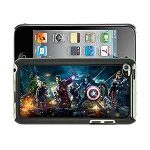 Rhino Cases Coque et protection d'écran pour iPodTouch4 Motif Avengers Marvel Noir