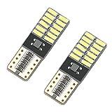 2 Veilleuses ampoules LED T10 COB Canbus NO ERRORE Blanc Xenon voiture W5W 12V