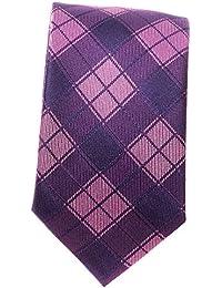 Schmale Krawatte Seidenkrawatte karo verschiedene Modelle