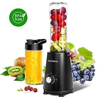Standmixer-Mixer-Godmorn-Mini-StandmixerSmoothie-Maker-Mix-2-Trinkflaschen-600ml-350-Watt