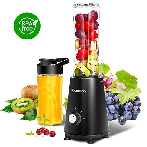 Standmixer Mixer Godmorn Mini-Standmixer/Smoothie Maker Mix 2 Trinkflaschen, 600ml, 350 Watt