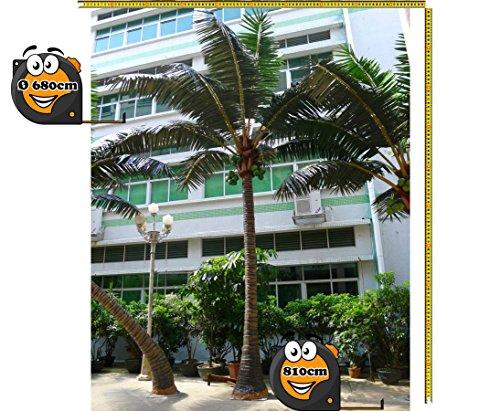 Kunstpalme gerade für Außenbereich Höhe 810cm, Durch. ca. 680cm extrem widerstandsfähig --> Kunstpflanze Kunstbaum künstliche Palmen