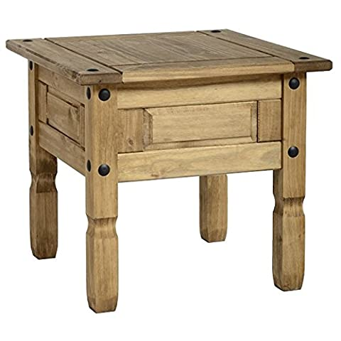 Simple And Classic Corona Solid Pine Pair Of Lamp Tables - Cute Little Table Can Hold Your Essentials Within Easy Reach - Ideal Little Table For Any Smart Looking Room