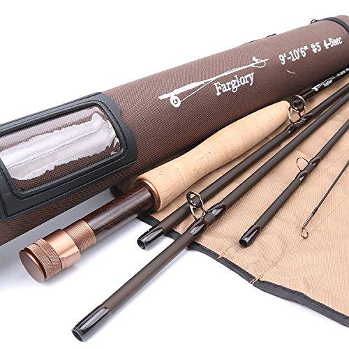 Maxcatch Farglory Fliegenrute 5wt 9'-10'6'' 4-5 sec mit 20'' Extra Verlängerung Tschechische Nymphe Fliegenfischen Rute