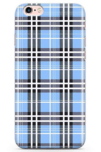 8fbaaa6ee3c14 Case Warehouse iPhone 6 Case, iPhone 6s Designer Blue Plaid Phone Case  Clear Ultra Thin Lightweight Gel Silicon TPU Protective Cover | Tartan  Tweed ...