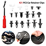 SALAMOPH Car Vent Body Clips Halter Push Kit - 421pcs Car Retainer Clips Kunststoff-Befestigungs-Kit Universal Auto Kunststoff Reparatur Push Pin Nieten Set Stoßstange Türverkleidung Befestigungsclips