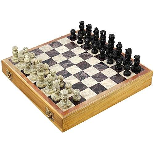 shalinindia-rajasthan-stone-art-unique-chess-sets-and-board-indian-handmade-unique-gifts-size-16x16-
