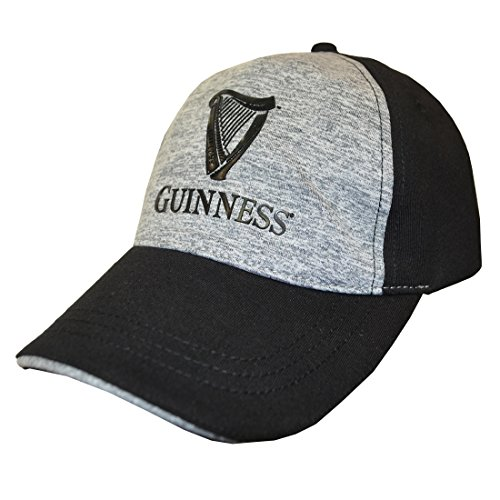 Black And Grey Guinness Performance Baseball Cap With Harp Design Guinness Baseball