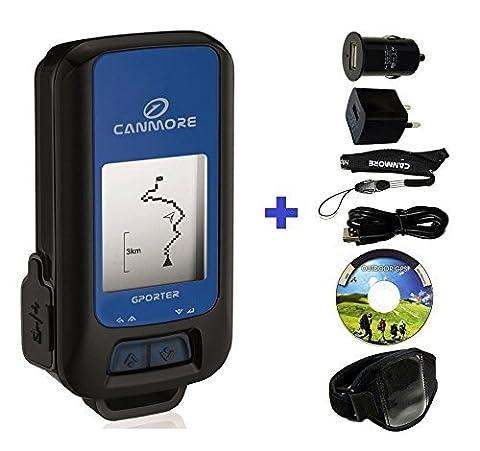 g Kit de 102+ GPS multifonctionnel (Bleu) Maxi pour porter GP avec bracelet, USB d'alimentation et adaptateur allume-cigare