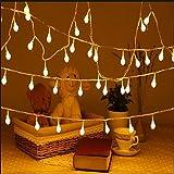 EleganBello, Catena Luminosa, Striscia LED, 1,5cm Globo Lisciato, Luce Bianca Calda, 11 Metri, 100 Singoli, Lucine Decorative per Casa, Festa, Giardino, Bar, Natale, Matrimonio o altre Occasioni