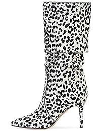 Bianco Stivali Donna Amazon Scarpe Camoscio it Da q78Ft1w